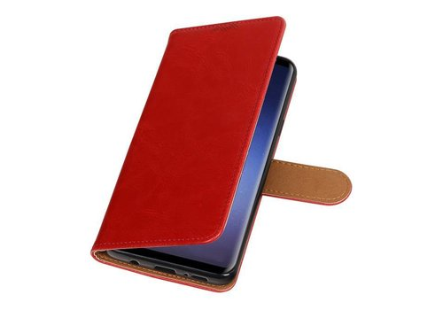 Pull Up TPU PU Leder Bookstyle voor Galaxy S9 Plus Rood
