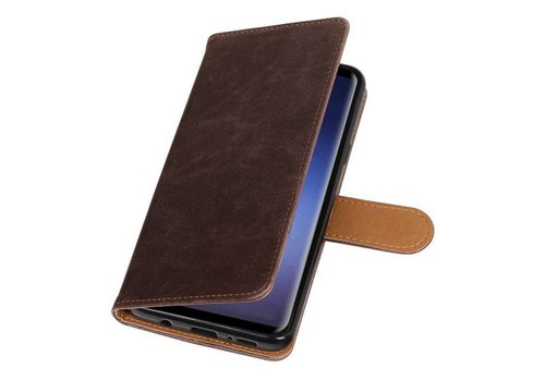 Pull Up TPU PU Leder Bookstyle voor Galaxy S9 Plus Mocca