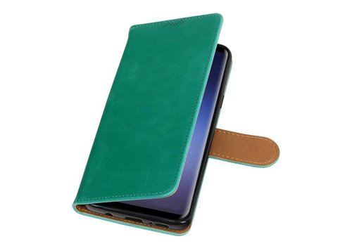 Pull Up TPU PU Leder Bookstyle voor Galaxy S9 Plus Groen