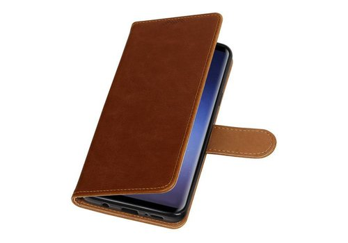 Pull Up TPU PU Leder Bookstyle voor Galaxy S9 Plus Bruin
