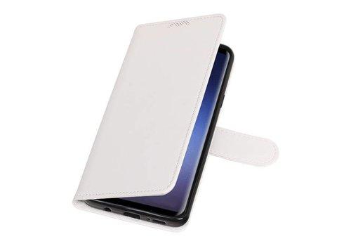 Galaxy S9 Plus Portemonnee hoesje booktype wallet case Wit