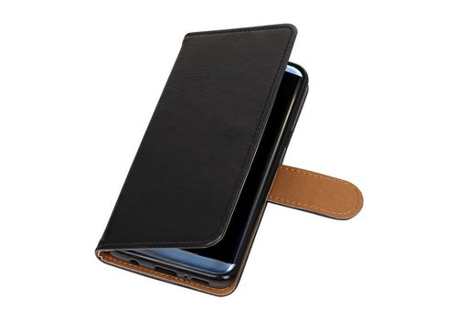Pull Up TPU PU Leder Bookstyle voor Galaxy S9 Zwart