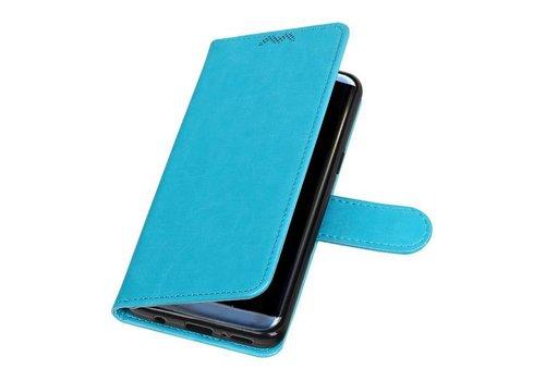 Galaxy S9 Portemonnee hoesje booktype wallet case Turquoise