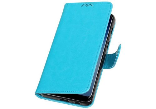 Galaxy A7 2018 Portemonnee hoesje booktype wallet case Turquoise