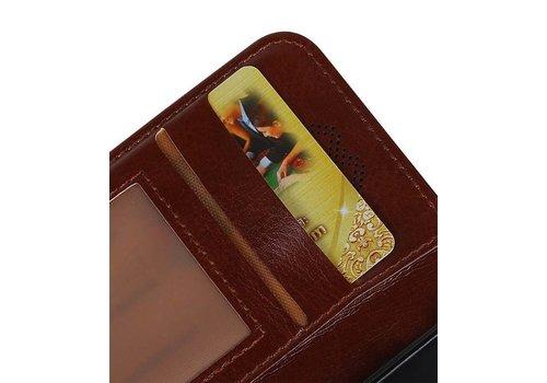 Huawei P10 Lite Portemonnee hoesje booktype wallet Bruin