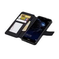 Cross Pattern Bookstyle voor Huawei P10 Lite Zwart