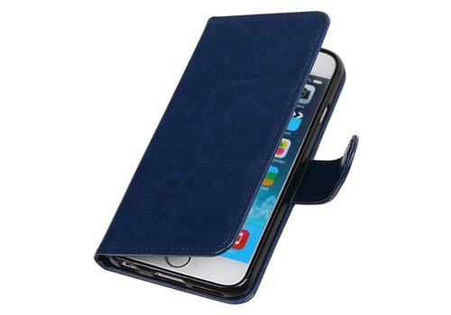 iPhone 6 Portemonnee hoesje booktype wallet case DonkerBlauw