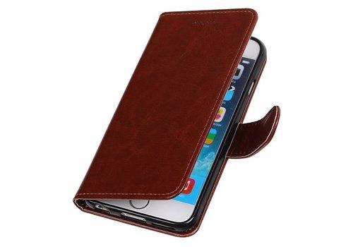 iPhone 6 Portemonnee hoesje booktype wallet case Bruin