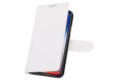 iPhone X Portemonnee hoesje booktype wallet case Wit