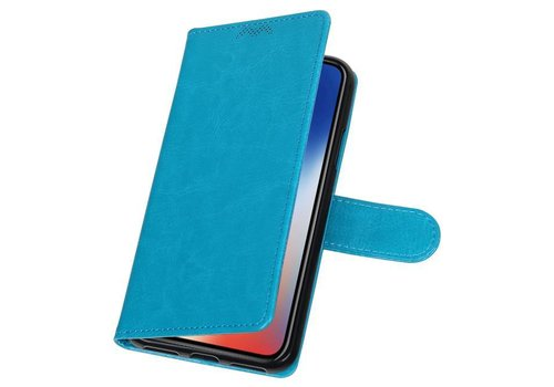 iPhone X Portemonnee hoesje booktype wallet case Turquoise