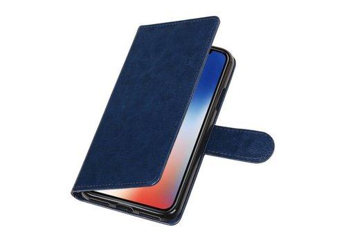 iPhone X Portemonnee hoesje booktype wallet case DonkerBlauw