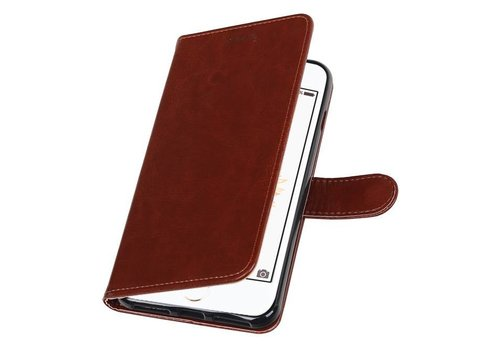 iPhone 7 Plus Portemonnee hoesje booktype wallet case Bruin