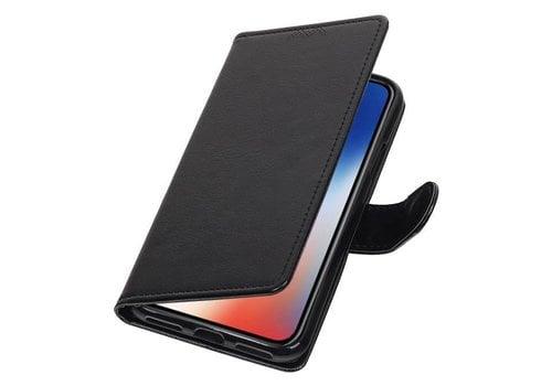 iPhone X Portemonnee hoesje booktype wallet case Zwart