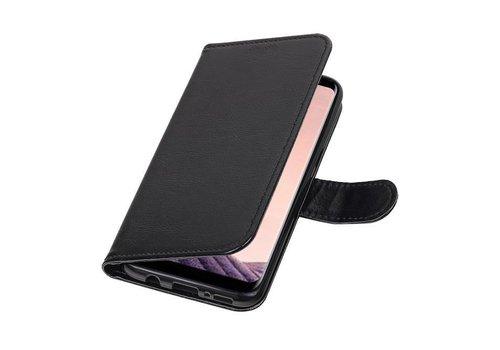 Galaxy S8 Portemonnee hoesje booktype wallet case Zwart