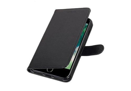 iPhone 7 Plus Portemonnee hoesje booktype wallet case Zwart