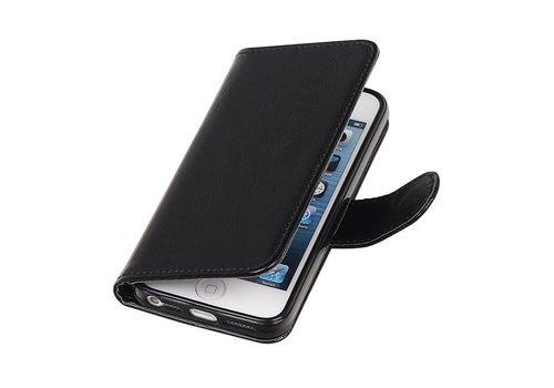 iPhone 5 Portemonnee hoesje booktype wallet case Zwart
