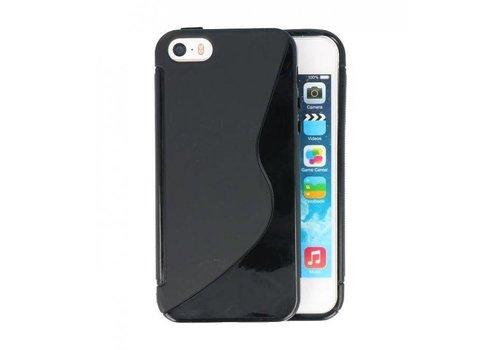 S-Line TPU Hoesje voor iPhone 5 Zwart