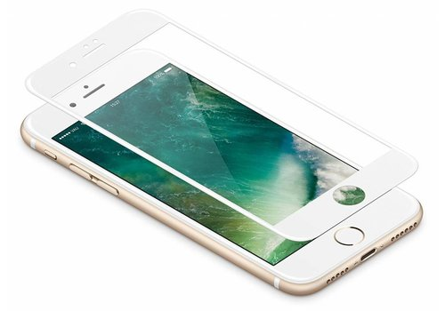 3D Tempered Glass voor iPhone 8 Plus Wit