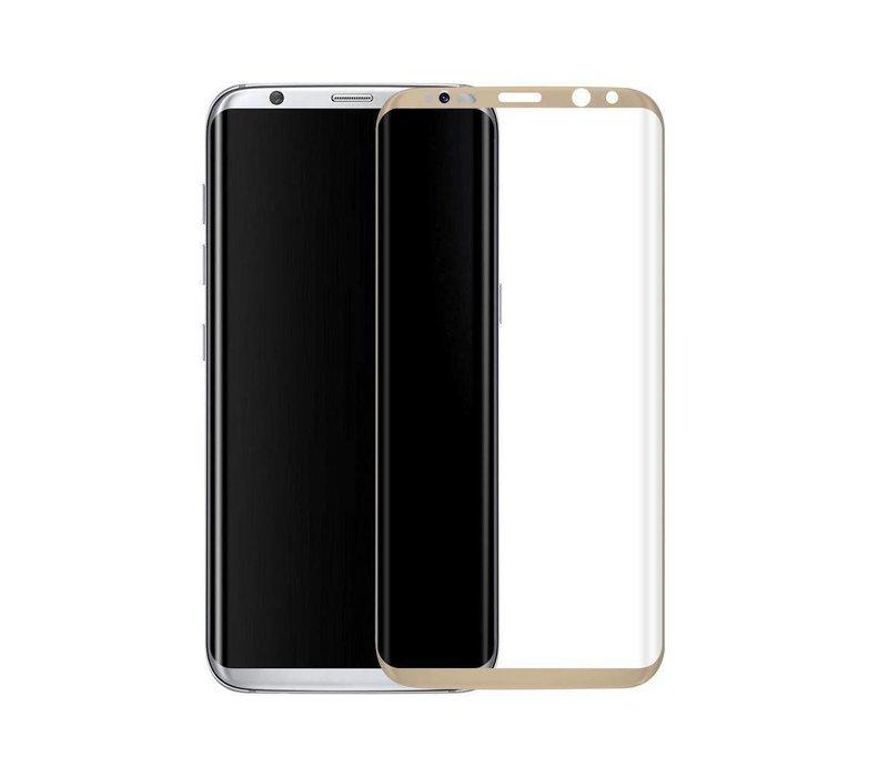3D Tempered Glass voor Galaxy S8 Plus Goud