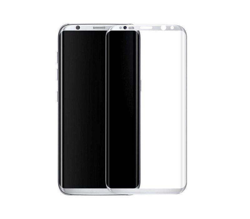3D Tempered Glass voor Galaxy S8 Plus Zilver