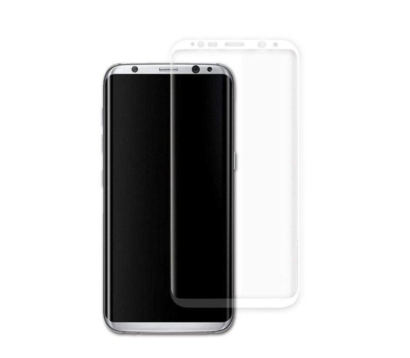 3D Tempered Glass voor Galaxy S8 Plus Wit