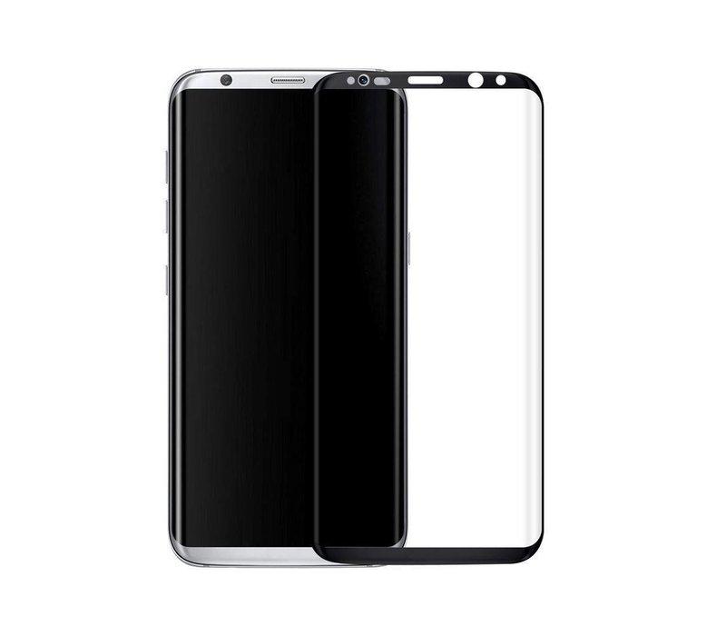 3D Tempered Glass voor Galaxy S8 Plus Zwart