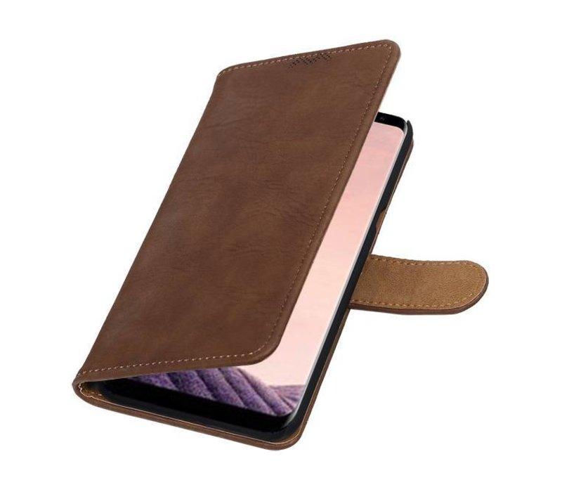 Bark Bookstyle Hoesje voor Galaxy S8 Plus Bruin