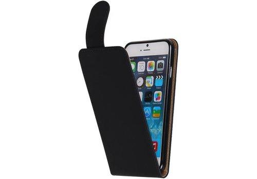 TPU Classic Flip Hoes voor iPhone 6 / 6s Zwart