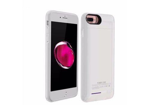 Battery Power Case voor iPhone 6 Plus / 6s Plus / 7 Plus 4200 mAh Wit