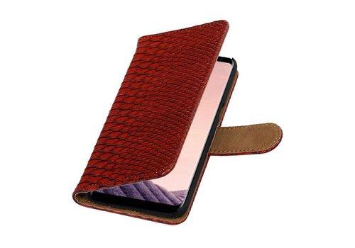 Snake Bookstyle Hoesje voor Galaxy S8 Plus Rood