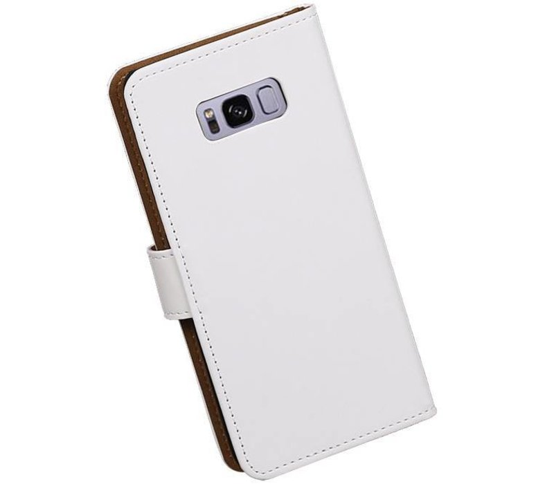 Bookstyle Hoesje voor Galaxy S8 Plus Wit