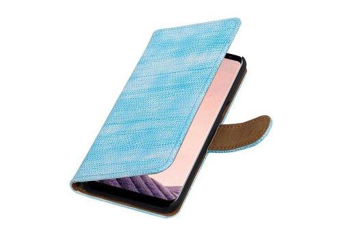 Lizard Bookstyle Hoesje voor Galaxy S8 Turquoise