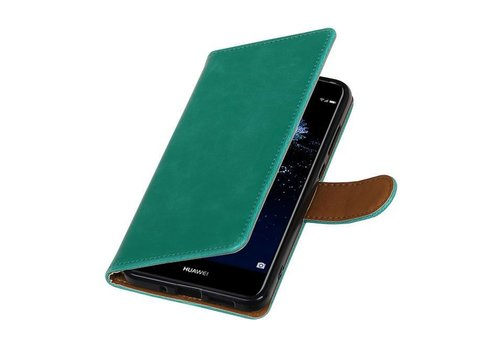 Pull Up TPU PU Leder Bookstyle voor Huawei P10 Lite Groen