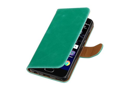 Pull Up TPU PU Leder Bookstyle voor Huawei P10 Groen