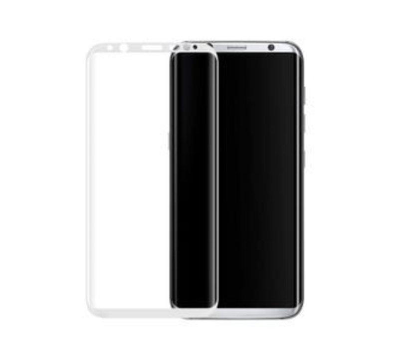 3D Tempered Glass voor Galaxy S8 Zilver