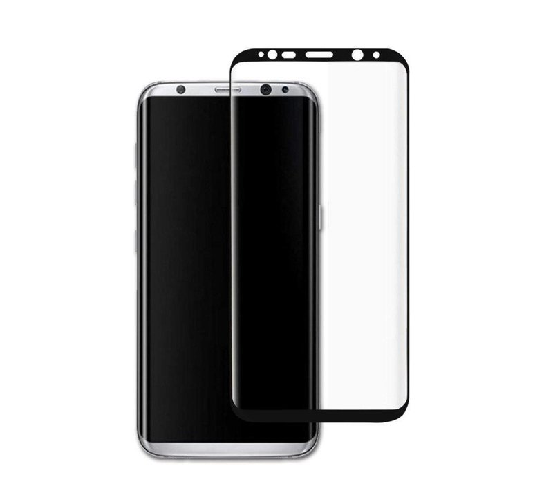 3D Tempered Glass voor Galaxy S8 Zwart