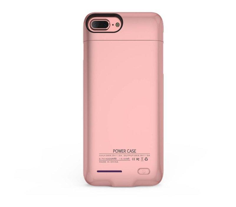 Battery Power Case voor iPhone 6 / 6s / 7 3000 mAh Roze