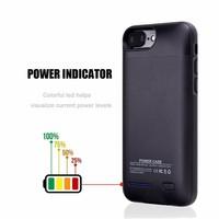 Battery Power Case voor iPhone 6 / 6s / 7 3000 mAh Goud