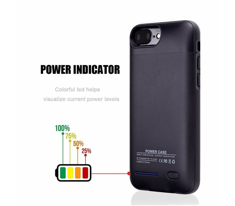 Battery Power Case voor iPhone 6 / 6s / 7 3000 mAh Zwart