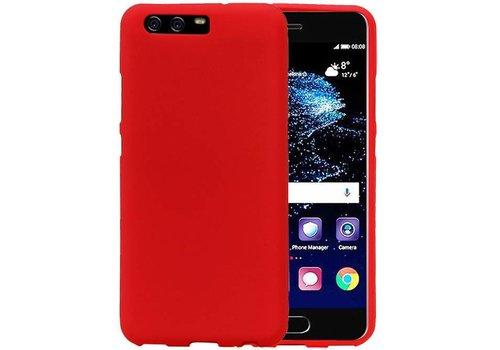 Sand Look TPU Hoesje voor Huawei P10 Rood