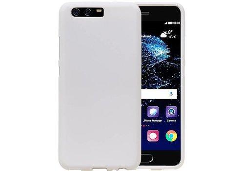 Sand Look TPU Hoesje voor Huawei P10 Wit