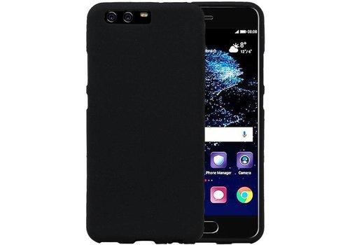 Sand Look TPU Hoesje voor Huawei P10 Zwart