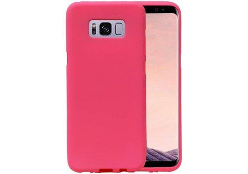 Sand Look TPU Hoesje voor Galaxy S8 Roze