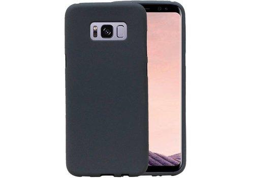 Sand Look TPU Hoesje voor Galaxy S8 Grijs