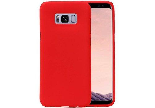 Sand Look TPU Hoesje voor Galaxy S8 Rood