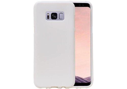 Sand Look TPU Hoesje voor Galaxy S8 Wit