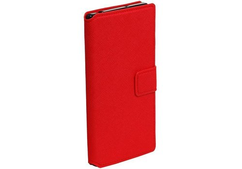 Cross Pattern TPU Bookstyle voor Xperia X Z Rood