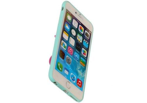 Vlinder Standing TPU Case voor iPhone 6 Plus Groen