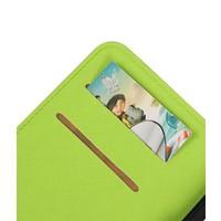 Cross Pattern TPU Bookstyle voor iPhone 7 Plus Groen