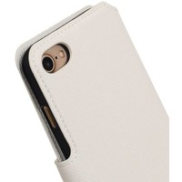 Cross Pattern TPU Bookstyle voor iPhone 7 Wit